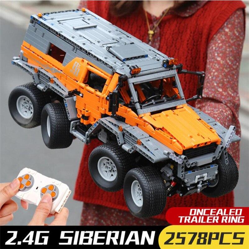 Remote Control Technic 23011 Avtoros Shaman 8x8 Off-Road Vehicle Car Compatible Lepin MOC 5360 Building Blocks Bricks Boys Toys