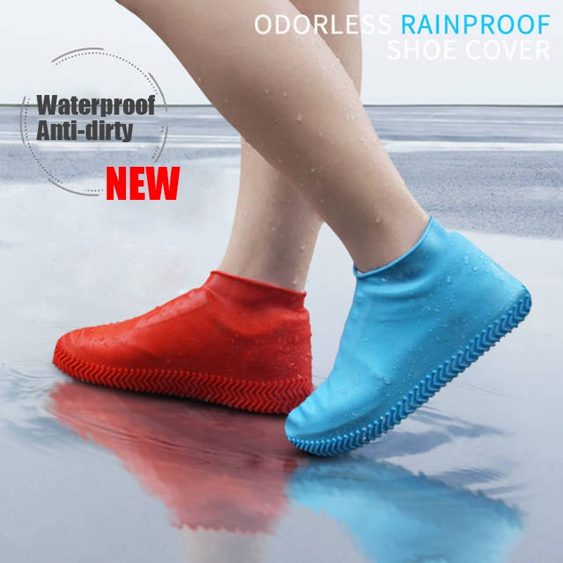 2020 Silicone Kids Rainproof Rain Cover For Shoes Girl Men Waterproof Shoes Cover Unisex  Non-slip W