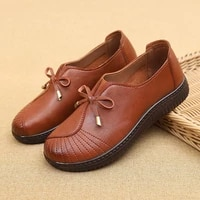 chic bowknot comfort flats ladies moccasins autumn casual shoes for women leather loafers female slip ons sneakers black flats
