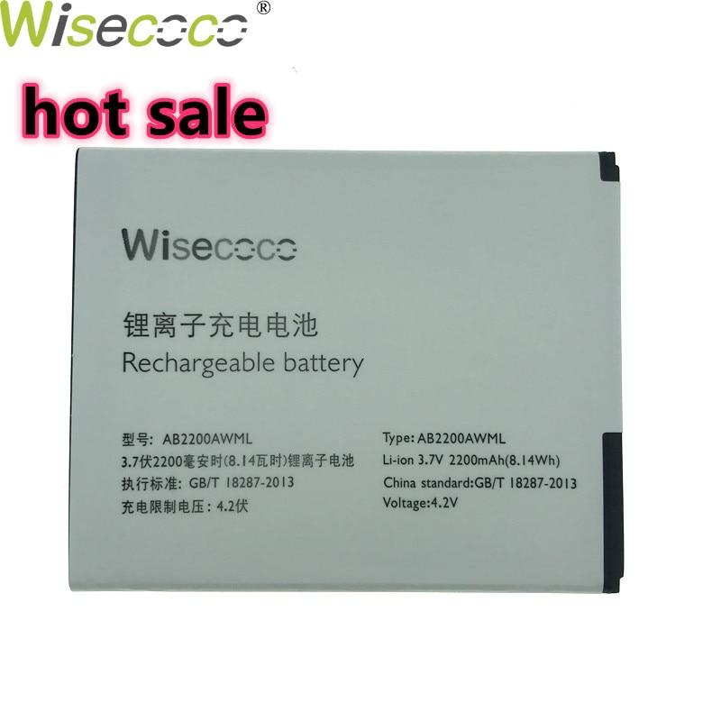 WISECOCO в наличии новый аккумулятор AB2200AWML для смартфона PHILIPS Xenium W3500 W3509 с номером отслеживания