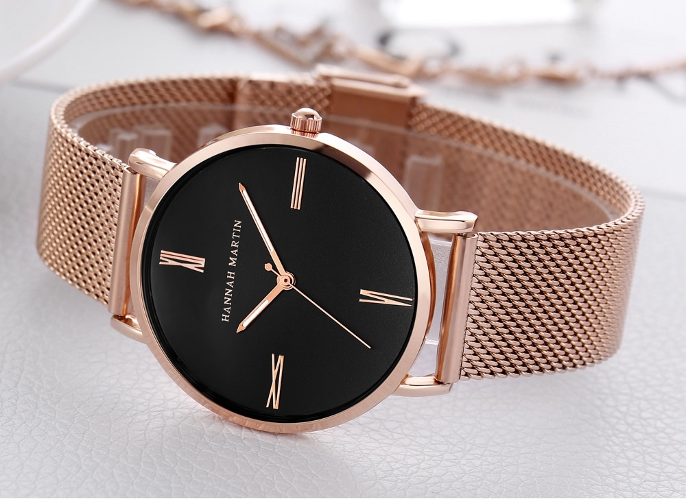 New Hot Japan Quartz Movement Simple Design High Quality Women Stainless Steel Mesh  Waterproof Ladies Watch Dropshipping enlarge