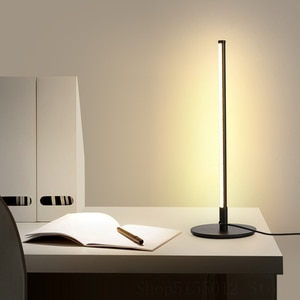 Nordic Simple Led Table Lamp Bedroom Bedside Lamp Reading Lighting Fixture Modern Lines Art Deco Living Room Retro Table Light