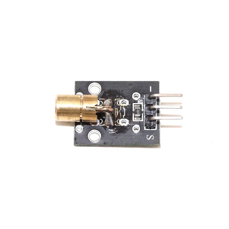 Laser Sensor Module 3pin 650nm Red Laser Transmitter Dot Diode Copper Head Module KY008 For arduino Sensors