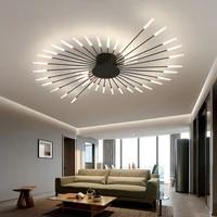 new modern living room firework style ceiling chandelier headlight simple hotel lobby bedroom lamp led lighting