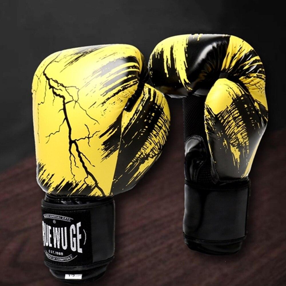 white 10oz boxing gloves mma kick boxing training muay thai men fitness gloves for adult kids free shipping Boxing Gloves Men and Women Muay Thai Adult Children's Gloves Free Fighting Gloves Kick Boxing  Mma Gloves