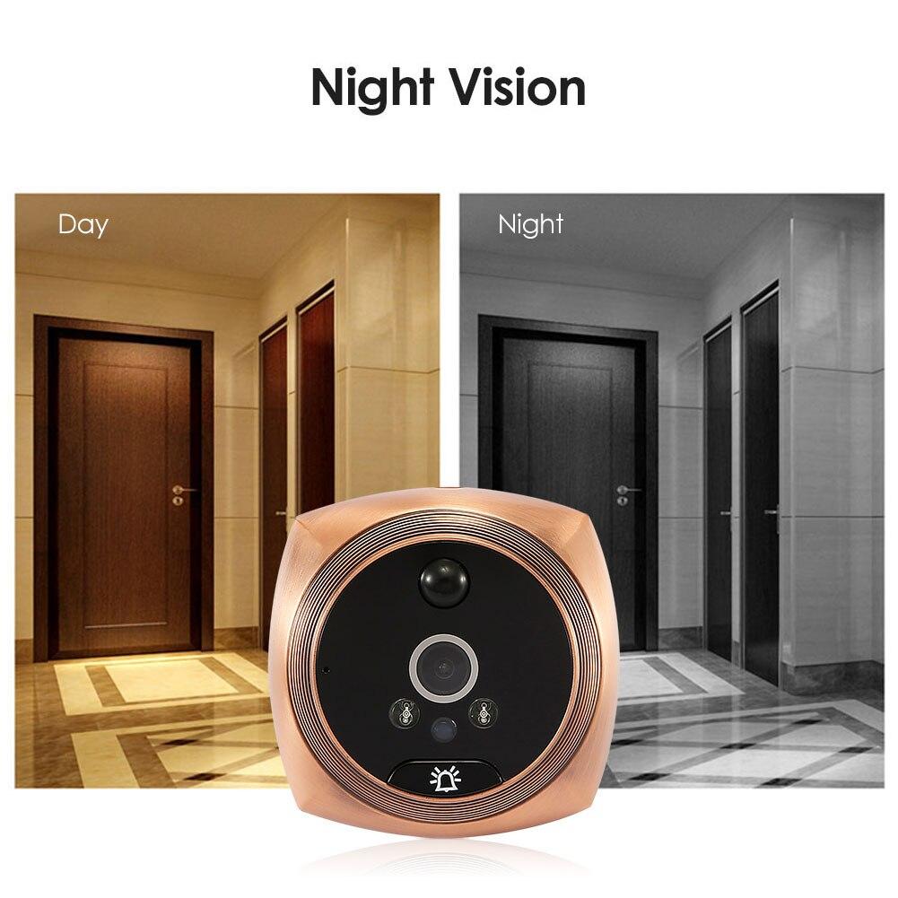 Electronic Doorbell Viewer Night Vision PIR Night Peephole Camera Photo Eye Door Doorbell Digital Door Camera enlarge
