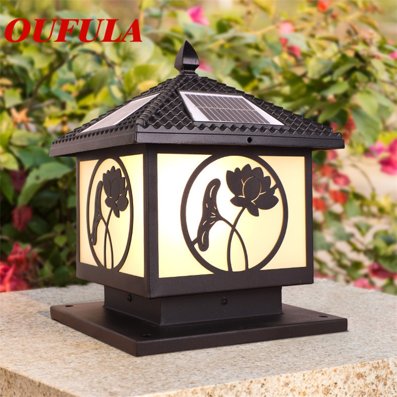 OULALA Solar Outdoor Wall Lamps Fixture Waterproof ContemporaryCourtyard Decorative For Corridor  VillaDuplex