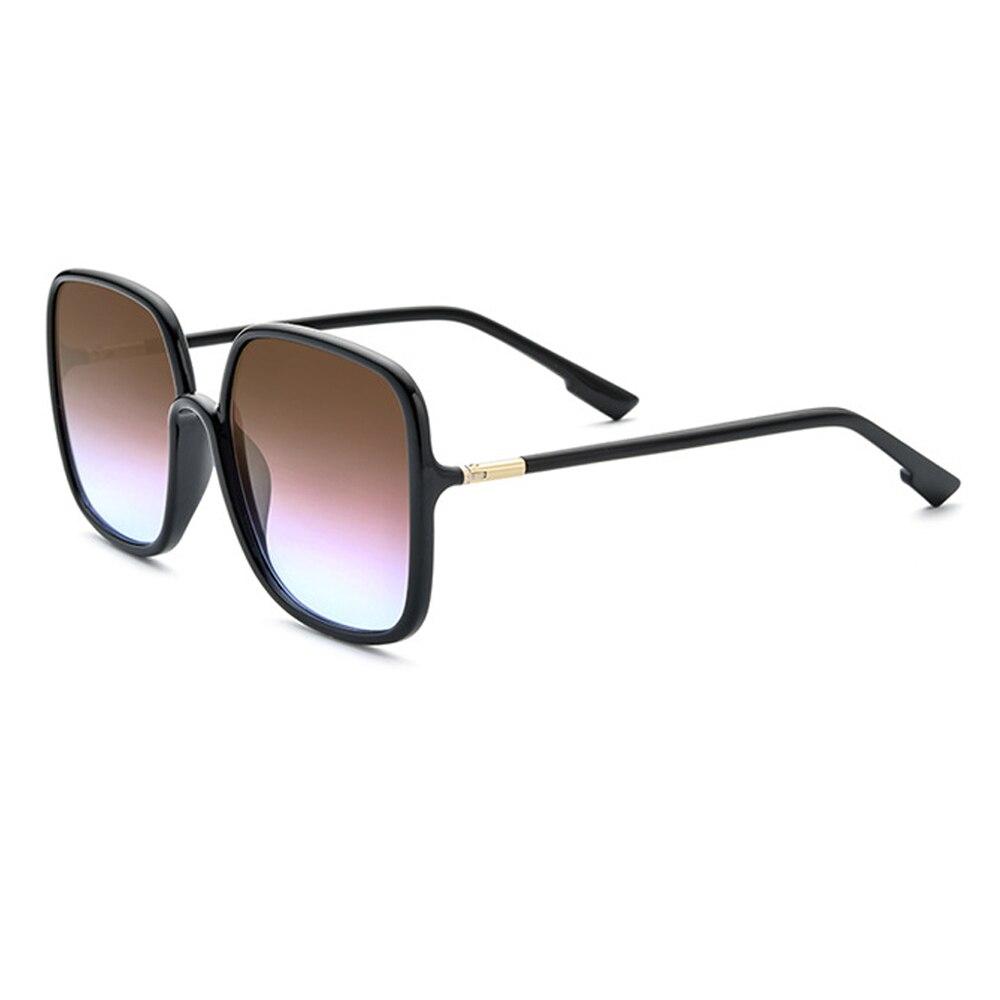 UV400 Fashion Women Driving Sunglasses Brown Gradient Lenses Glasses For Women With Box