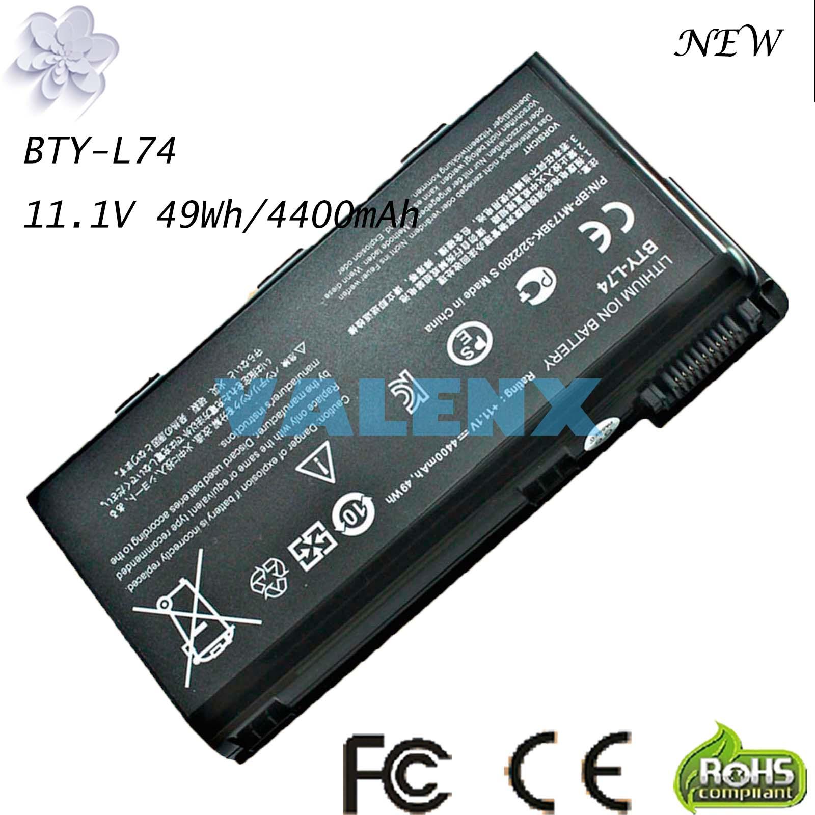 BTY-L74 بطارية كمبيوتر محمول ل MSI A5000 A6000 A6200 CR600 CR600 CR620 CR700 CX600 CX700 جميع سلسلة MSI CX620 A7005