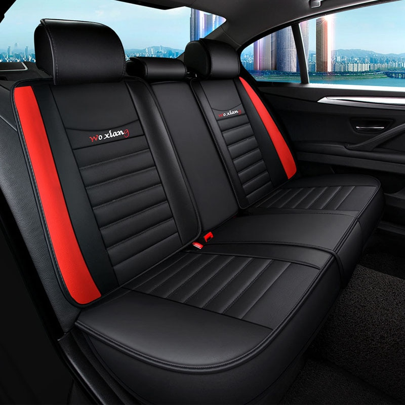 black red leather car seat cover For opel corsa d astra k zafira tourer antara vectra b meriva b  accessories enlarge