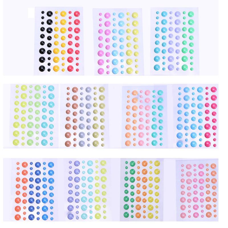54pcs/pack Enamel Dot Sticker Sugar Sprinkles Self- adhesive Resin Assorted for DIY Scrapbooking Photo Album Card Crafts Decor