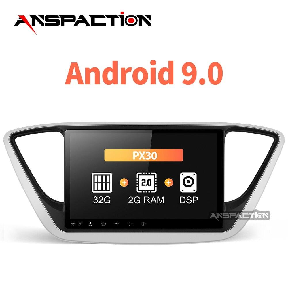 Android 9,0 para solaris hyundai verna auto Radio Multimedia Video Player navegación GPS dvd de coche 2 din 2012, 2013, 2017, 2018 verna