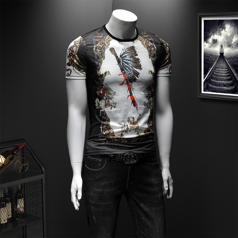 New Fashion Europe Court 3D Printed Mens Short Sleeve T-Shirt Casual O-Neck Floral Tees Of Various Colors Styles Poleras Hombre