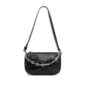 Ceossman Retro Totes Bags For Women 2020 Trendy Handbag Soft Leather Female Small Subaxillary Bag Casual Chain Mini Shoulder Bag