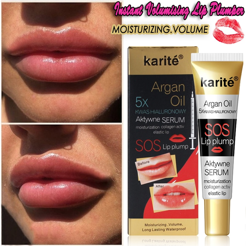 Instant Volumising Lip Plumper Serum Moisturizing Lips Repairing Mask Reduce Lip Fine Lines Collagen