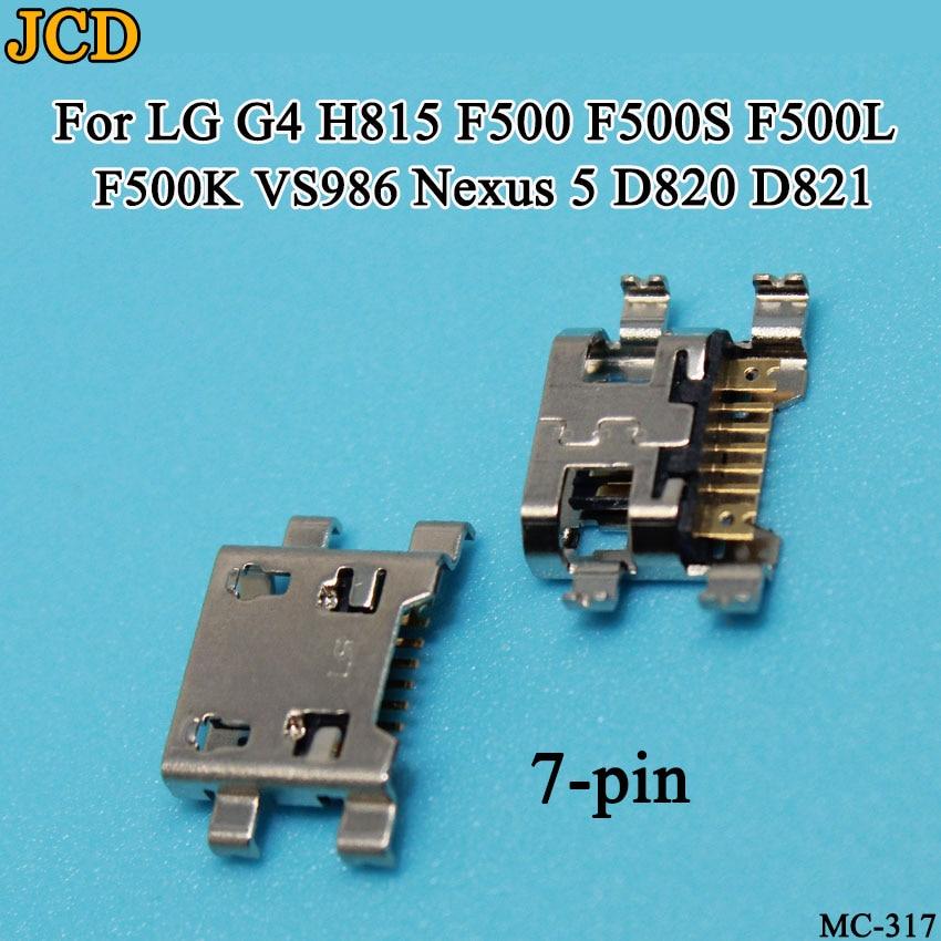 Jcd 30 pçs/lote para lg g4 h815 f500 f500s f500l f500k vs986/nexus 5 d820 d821 usb conector de carregamento doca tomada porta carga jack
