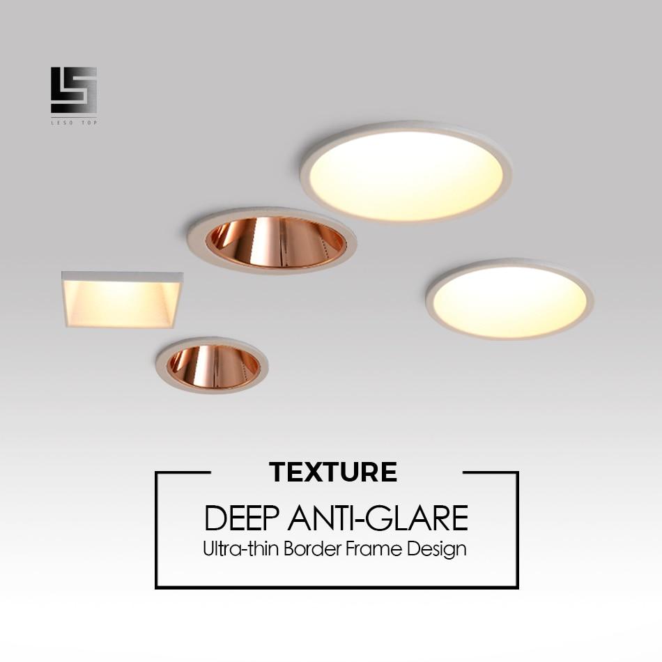LED Downlight  Anti-glare Narrow Border soften light home lighting Embedded high lumen Ceiling Lamp high brightness spot light