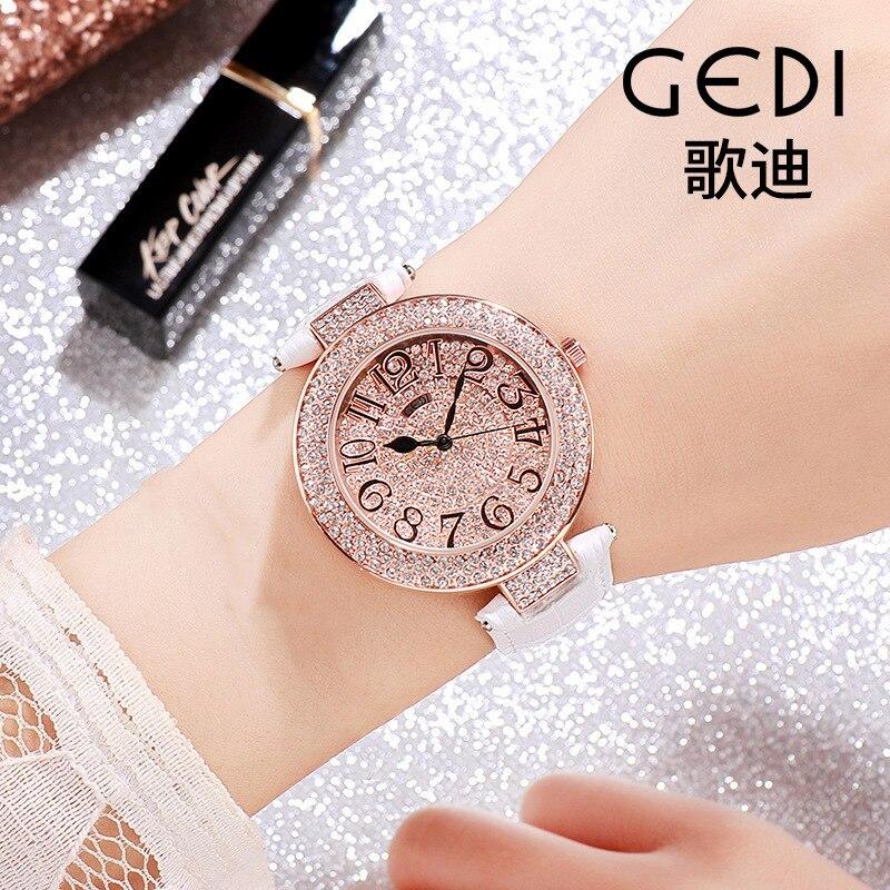 Waterproof Diamond  Ladies Watch Luxury Designer Fashion Bright  Dress Watch Women Gifts for Women Rhinestone Relojes Para Mujer enlarge