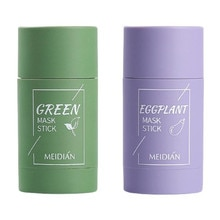 Green Tea Detox Stick Deep Cleansing Solid Mask Oil Control Pores Purifying Clay Green Mask Stick Wh