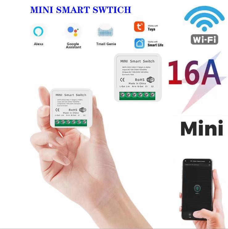 16a mini inteligente wifi diy interruptor mini inteligente 2way controle de casa