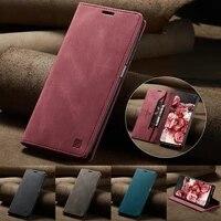 wallet skin feel anti theft brush case for xiaomi redmi note 1010s10 pro10 pro max note 99s9 pro max note8 pro mi 10t lite