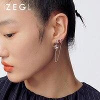 ZENGLIU Designer Model Pepper Chain Earrings Female Chinese Style Earrings 925 Silver Pin Earrings Unique Design