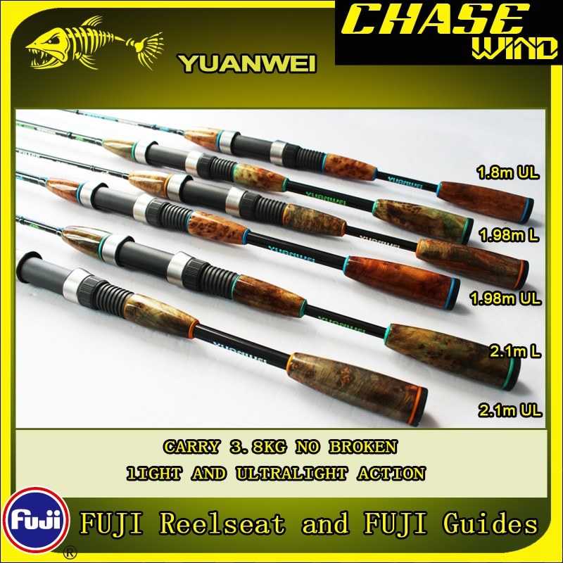 Yuanwei Chase wind  Lure Rod 1.98m 2.1m Spinning Rod UL/L Carbon Rod Vara De Pescar Carpe Fishing Rod Canne a Peche B187 enlarge