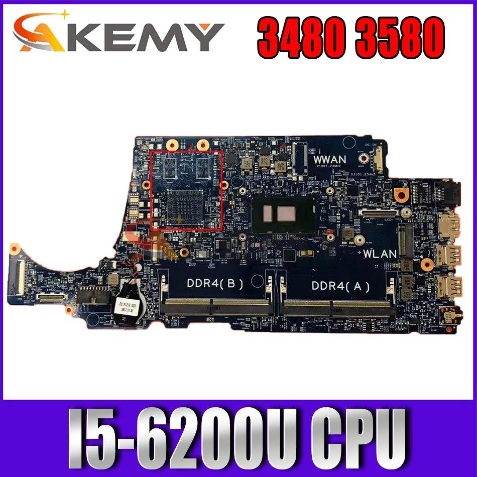 لديل خط العرض 3480 3580 اللوحة المحمول SR2EY I5-6200U CPU 16852-1 CN-0TD9WG 0TD9WG TD9WG اختبار 100% العمل