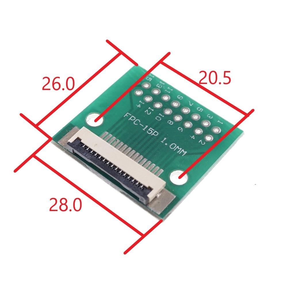 2 Pcs Fpc Ffc Flexibele Platte Kabel 15 Pin 1.0 Mm Adapter 2.54 Mm Pitch Through Hole Dip Pcb voor Raspberry Pi Camera Rev 1.3