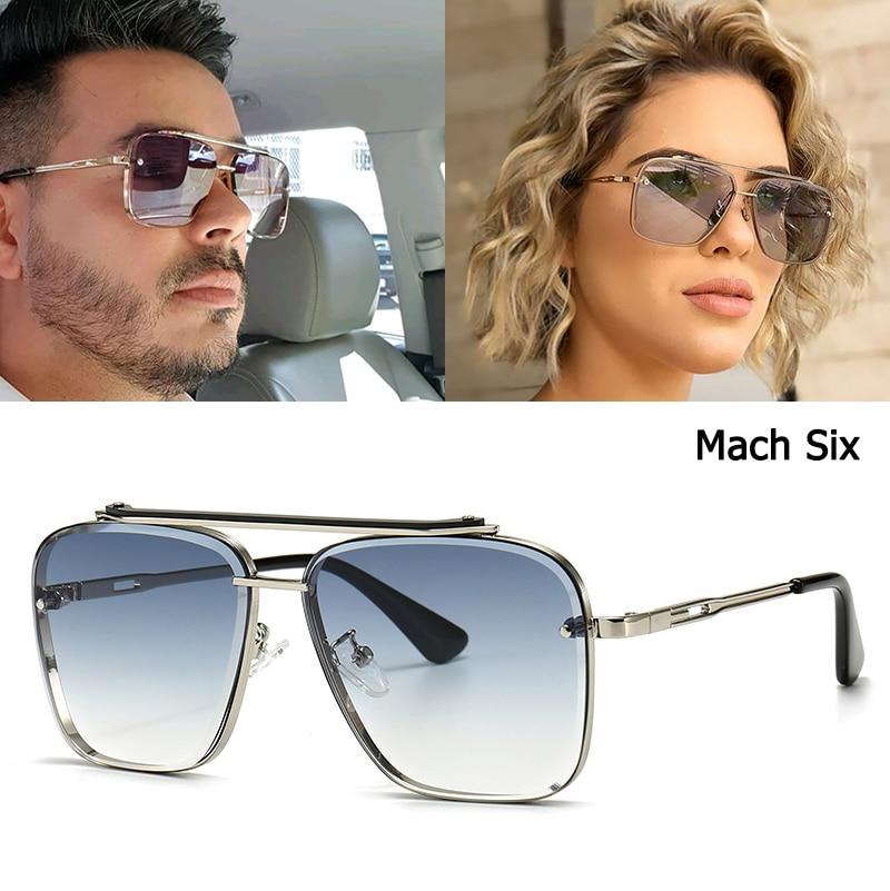 JackJad 2021 Fashion Classic Mach Six Style Gradient Sunglasses Cool Men Vintage Brand Design Sun Glasses Oculos De Sol 2A102