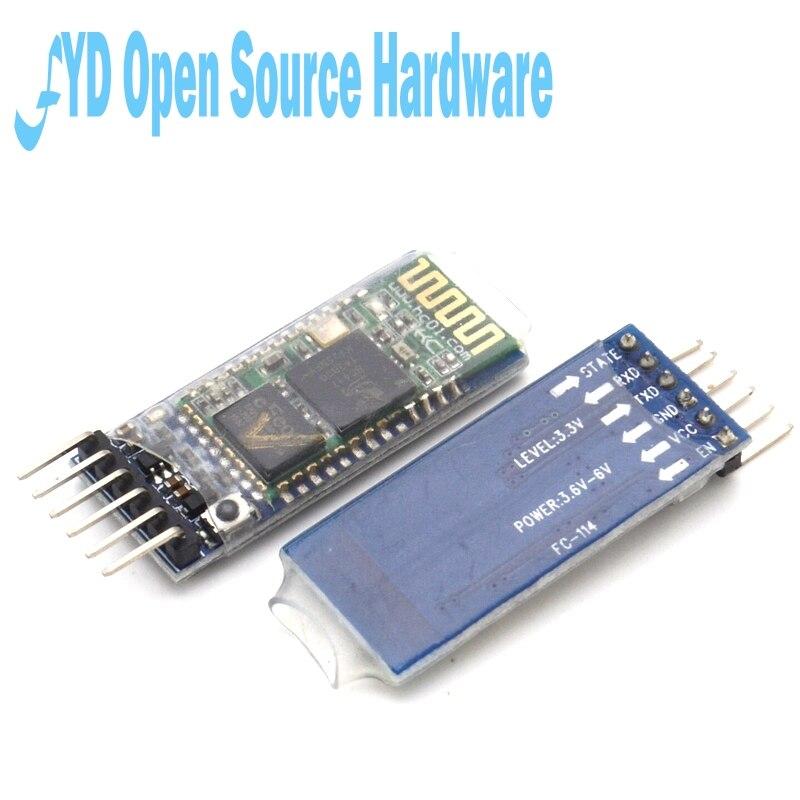 1 шт. HC-05 master-slave 6pin JY-MCU анти-реверс, встроенный Bluetooth последовательный сквозной модуль