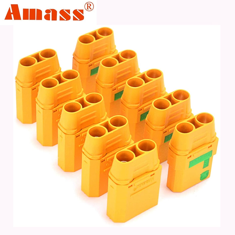 YOUME 10PCS XT90S anti spark connector 5 Pairs Amass XT90-S coonector Anti-Spark Male Female Adapter for Car Lipo Battery
