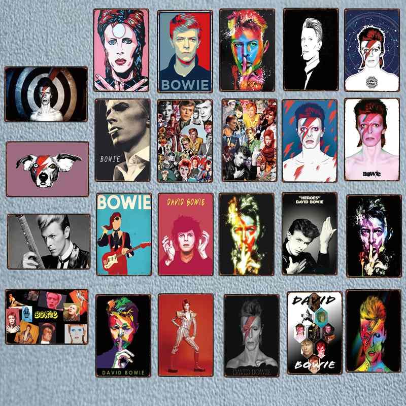 Música estrella Metal estaño signo Vintage pared música Bar cafetería tienda hogar Retro Decoración arte póster Cuadros DU-3419B