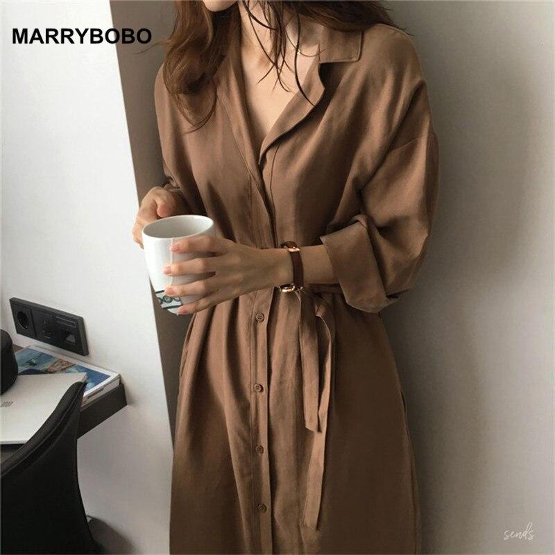 Otoño mujer botón camisa vestidos 2019 Vintage Batwing manga Oficina blusa Casual Mujer Tops túnica talla grande