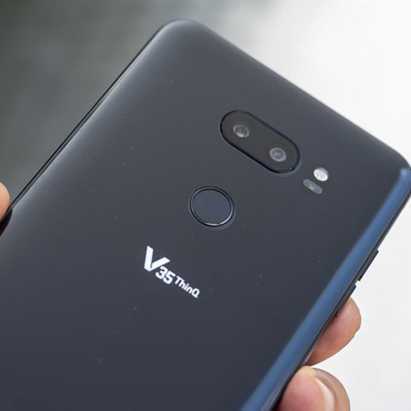 Фото4 - Смартфон LG V35 ThinQ V350N V350AWM, разблокированный, мобильный телефон, экран 6,0 дюйма, 6 ГБ ОЗУ 64 Гб ПЗУ, Восьмиядерный 16 Мп, сканер отпечатков пальцев, ...