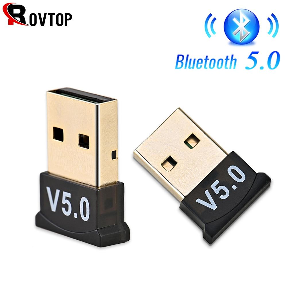 Adaptador USB Bluetooth 5,0 transmisor receptor Bluetooth Audio Bluetooth Dongle adaptador USB inalámbrico para ordenador PC y portátil