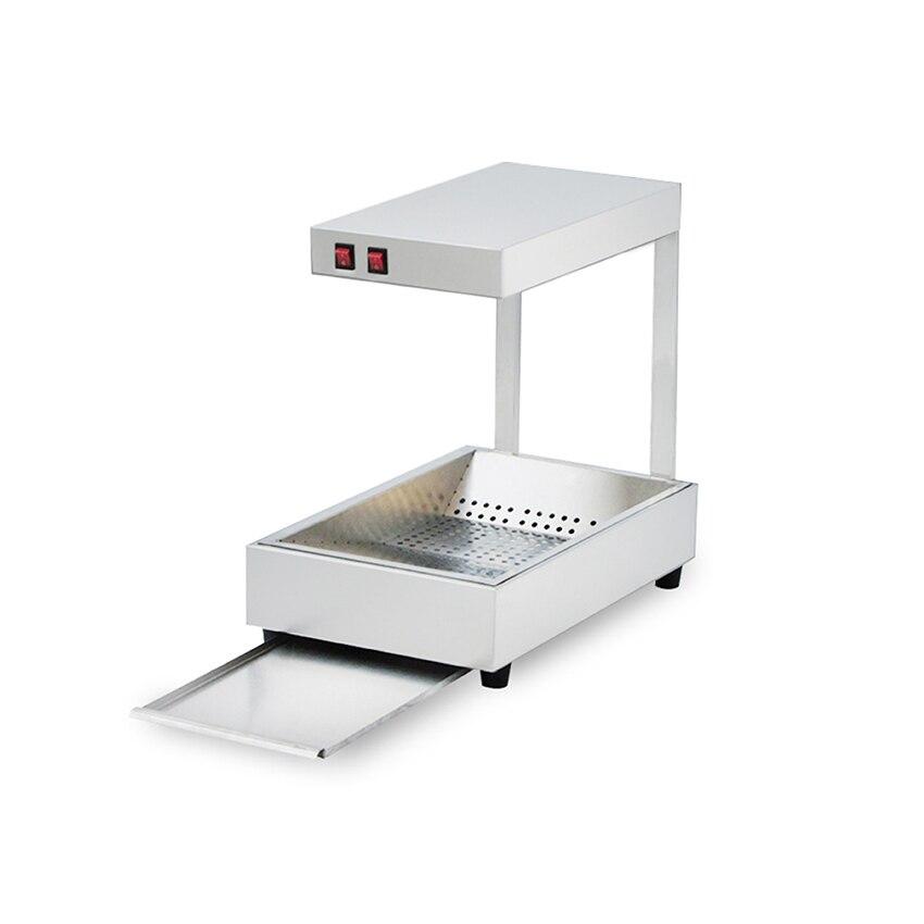 110/220 فولت جهاز تسخين الطعام آلة للبطاطس المقلية الفولاذ المقاوم للصدأ آلة العزل 0.31Kw التجارية دائم الغذاء الاحترار آلة