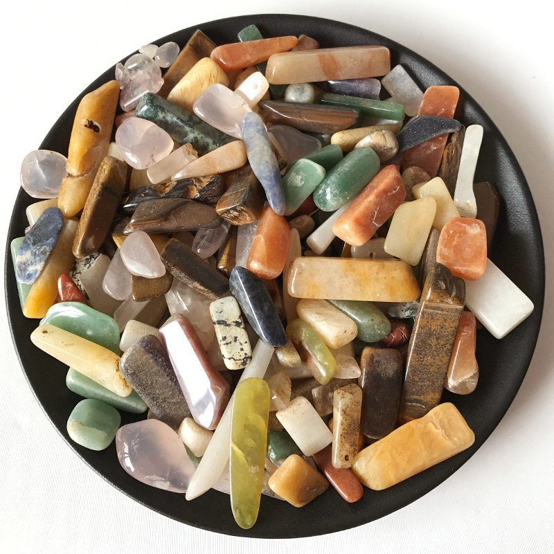 100G Natural Crystal Mineral Mixed Crystal Strip Raw Stone Gravel Home Decoration DIY Energy Healing Crafts 20g 50g natural crystal primitive crystal crystal rod quartz crystal healing stone crystal pointe mineral specimen energy stone