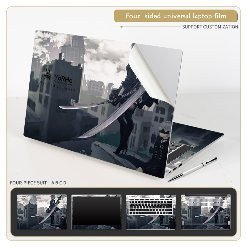 Pegatinas de PVC para ordenador portátil, cubierta de cuerpo entero para Acer/Dell/HP/Lenovo/ASUS,...