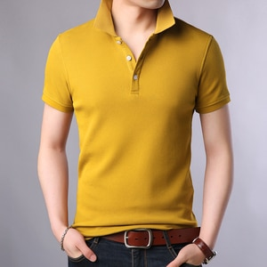 2020 New Fashion Brands Polo Shirt Men's 100% Cotton Summer Slim Fit Short Sleeve Solid Color Boys Polos Casual Mens Clothing