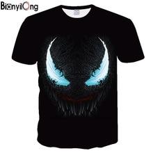 NEW Fasion Printing T-shirt Marvel Anime Movie Venom Pattern Design T Shirt 3D Printed Tshirts Men Short Sleeve Male Tops Tees