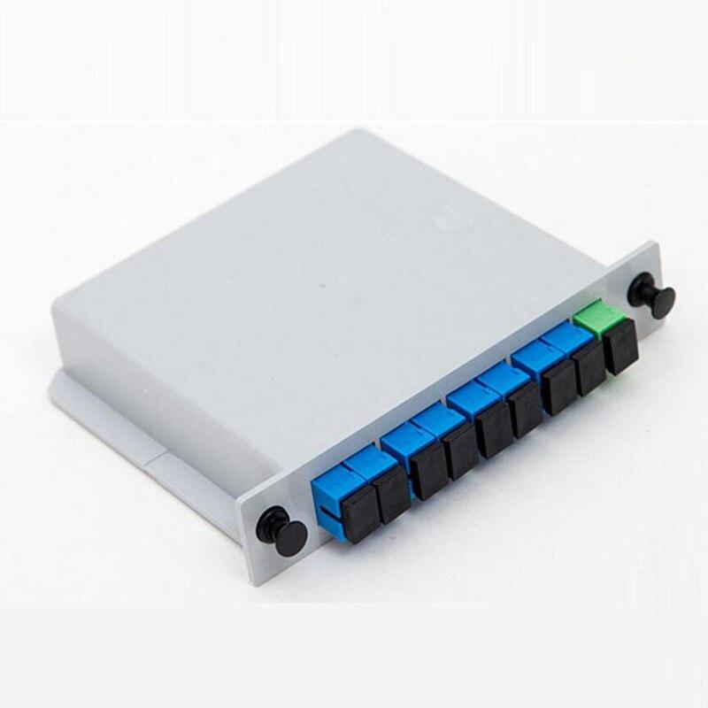 SC APC PLC 1X8 волоконно-оптический разветвитель FTTH PLC разветвитель с 1X8 оптический разветвитель PLC