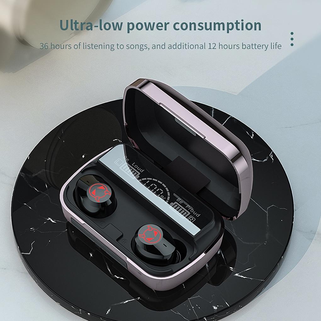 Get Headphones Bluetooth Wireless Earphones 5.1 Gaming Headset Earbuds Sport Noise Canceling Running TWS Microphone New