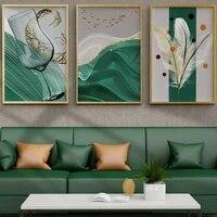 Peinture sur toile  style nordique  nature morte  tasse a vin  plume  art  salon  couloir  bureau  decoration murale de la maison