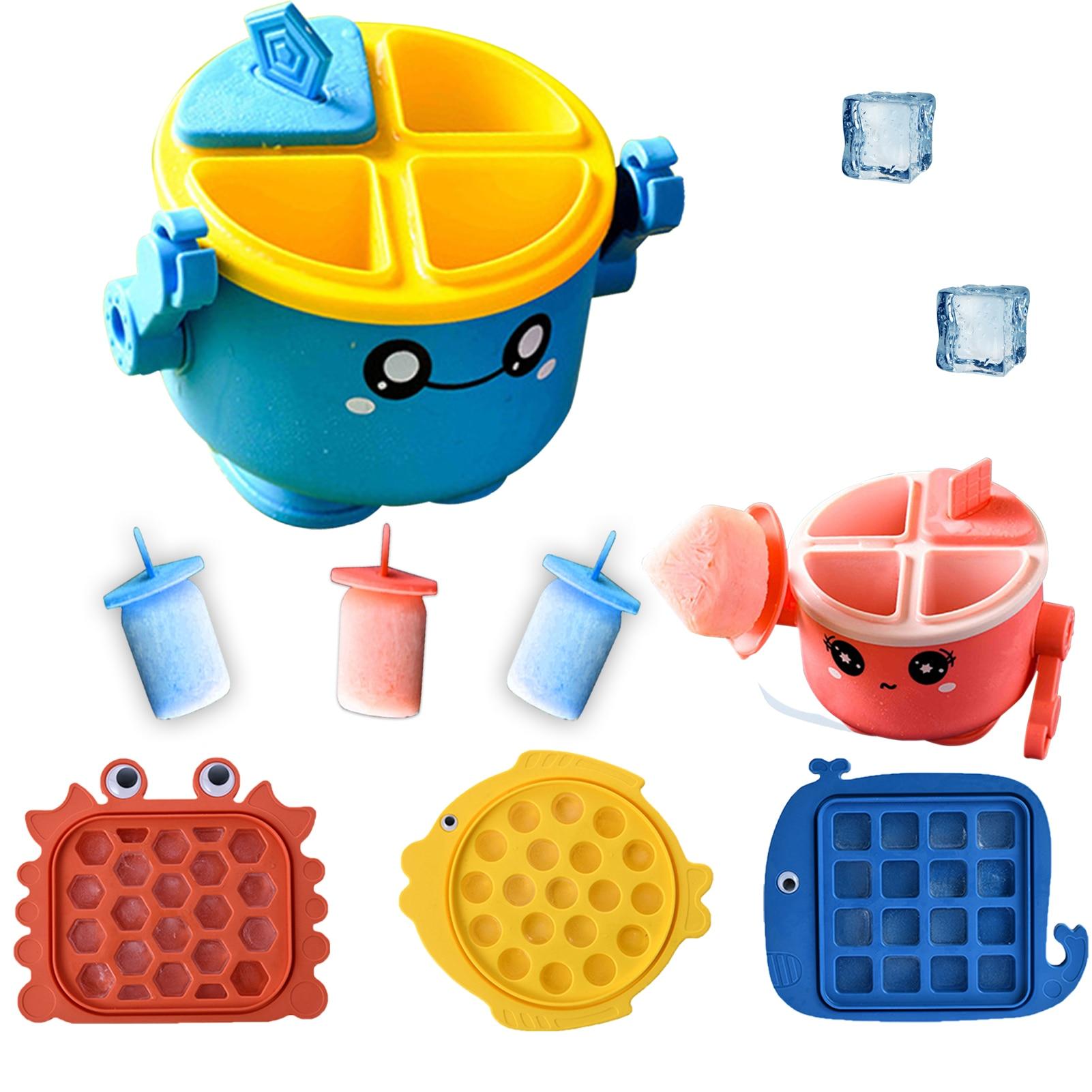 DIY Ice Tray Ice Cube Popsicle Mold Cartoon Homemade Popsicle Ice Cream Mold Custom Wholesale Ice Mold Home Ice Cream Tools