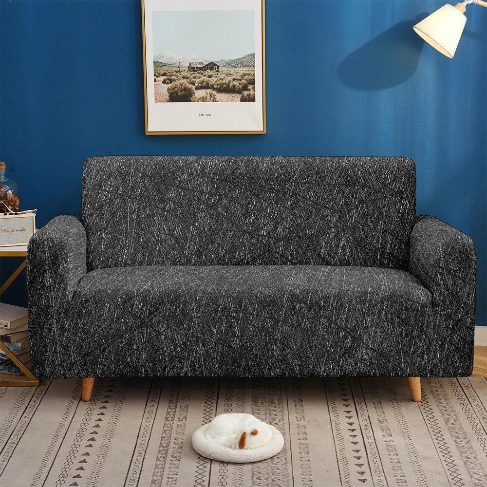 Cubierta de sofá elástico Strech para sala de estar, funda de sofá elástica en forma de L, funda de sofá de esquina, Protector de muebles 1/2/3/4 asiento