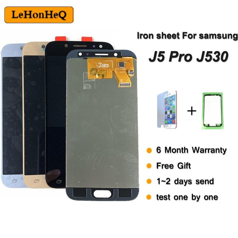 Hierro TFT ajustable LCD Galaxy J530 2017 para Samsung J5 2017 pantalla táctil digitalizador J5 Pro J530 J530F LCD 5,2 pulgadas