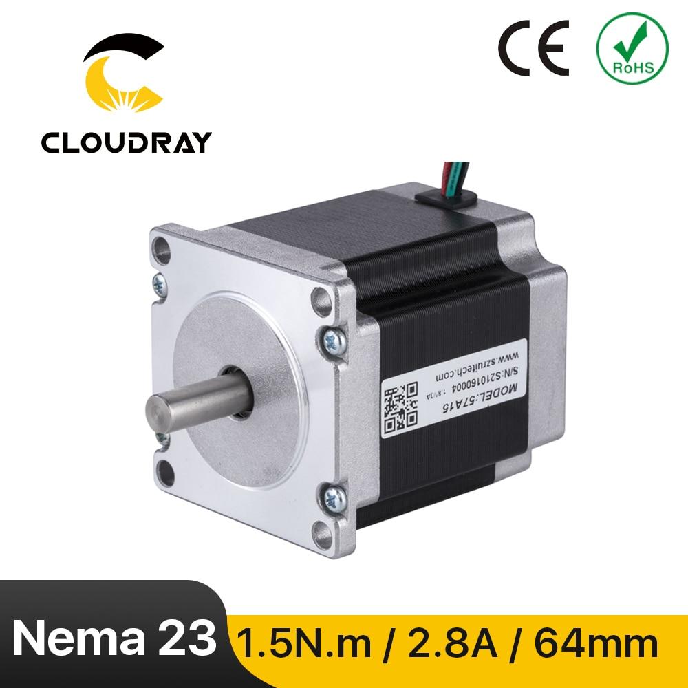 Nema23 محرك متدرج 57 مللي متر 150Ncm 2.8A 2 المرحلة محرك متدرج 4-كابل رصاص ل 3D طابعة CNC الليزر طحن رغوة البلازما قطع