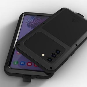 Image 5 - Металлический чехол для Samsung s21 Plus, чехол для телефона, сверхпрочная защита, стеклянный чехол для Samsung galaxy S21, противоударные чехлы