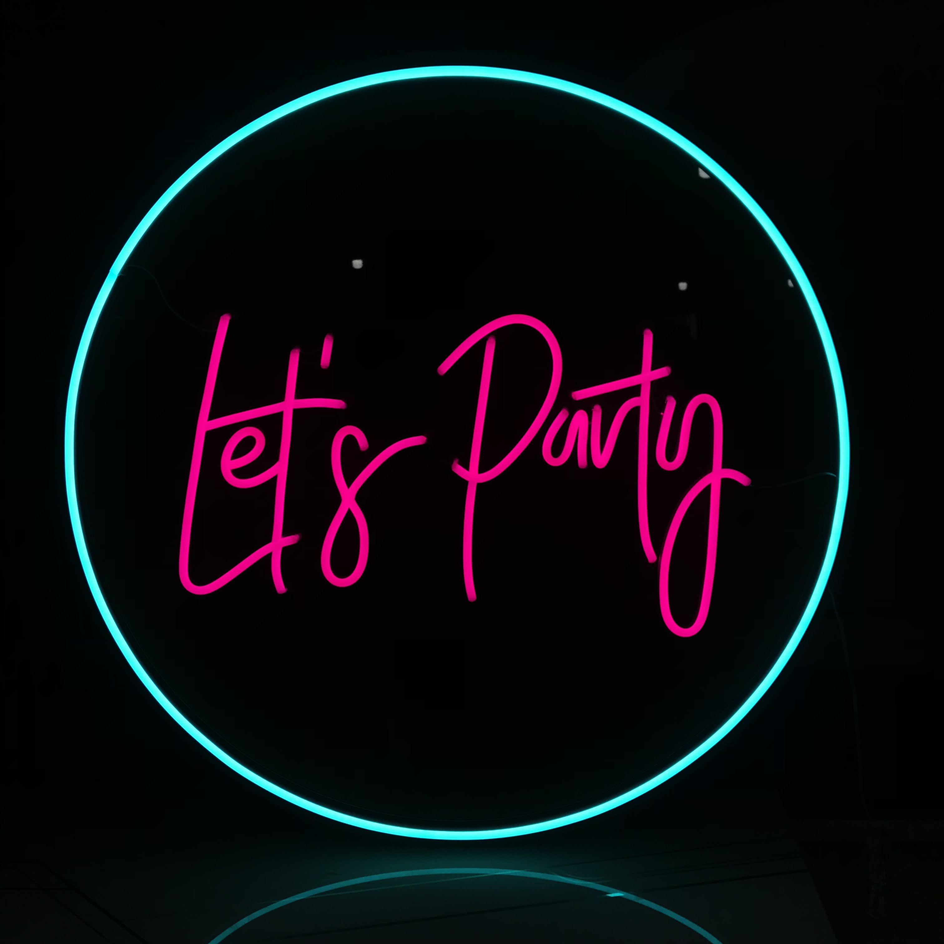 Let's Party Custom Neon Led Letters For Party Restaurant Wedding Bar Shop Birthday Decoration enlarge
